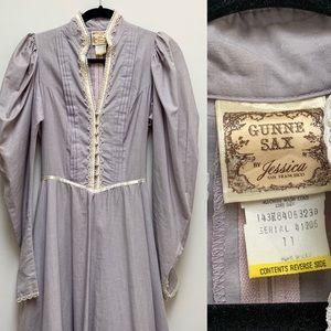 Gunne Sax Victorian Ruffled Dress
